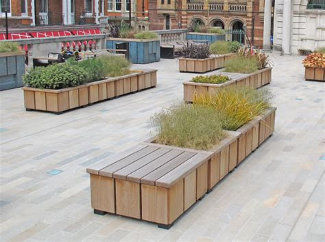 Movable Planters by Seating Benches Special Commissions
