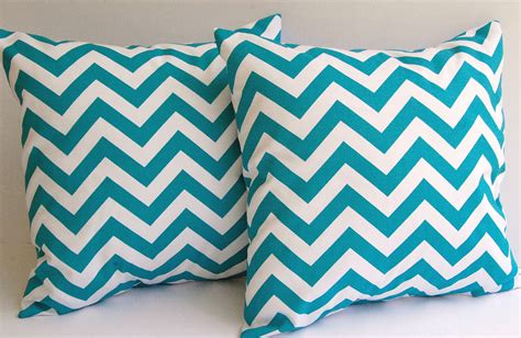 Turquoise Throw Pillow Covers by Turquoise Chevron Throw Pillow Covers Set Of By