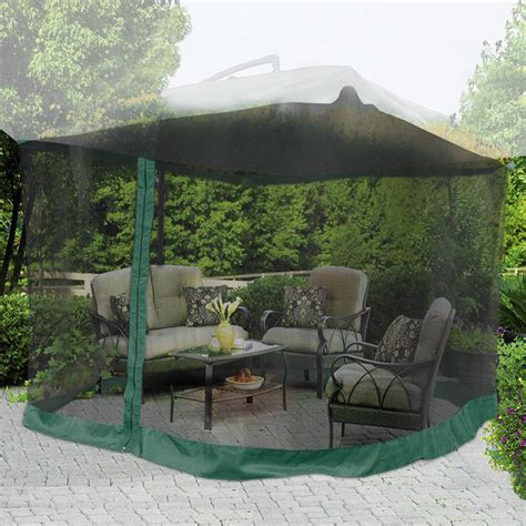 Patio Umbrella Mesh 9 X9 Mosquito Netting Bug Mesh Net For Outdoor Patio