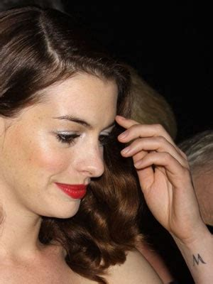 anne hathaway tattoo wrist meaning 17 best ideas about letter m tattoos on modern