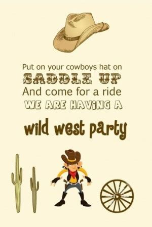 themed party quotes cowboy happy birthday quotes quotesgram