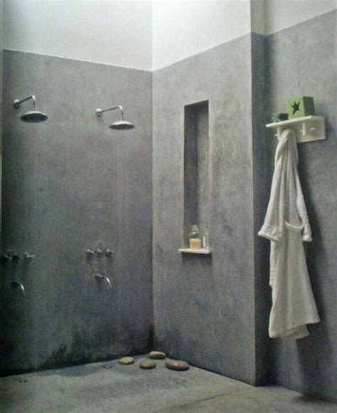 Concrete Shower Walls by 1000 Images About Concrete Bathroom On