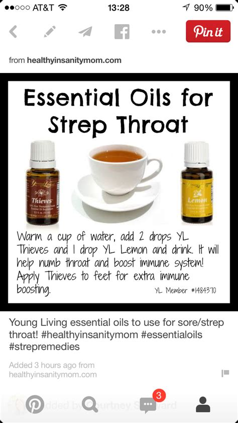 home remedy for strep throat living essential oils