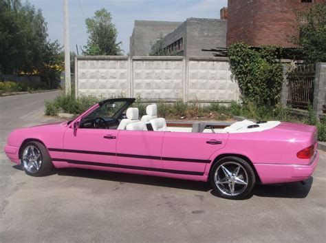 pink mercedes pink mercedes benz e class convertible limo will sicken you