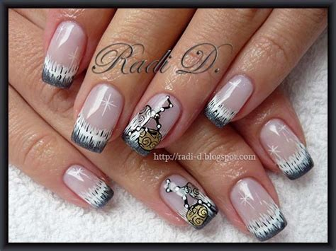 new year gel nails new year s decoration nail gallery