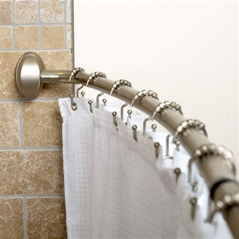 curved shower stall curtain rod curved curtain rod for shower stall home design ideas