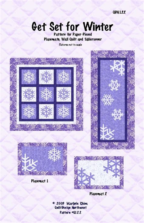 Handmade By Alissa - patterns for quilted placemats 171 free patterns