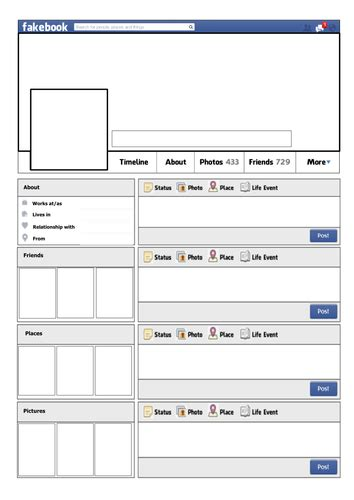 fakebook template exit ticket and homework activities by wodewee teaching