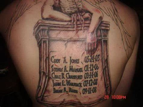 gravestone tattoos 35 best tombstone tattoos images on