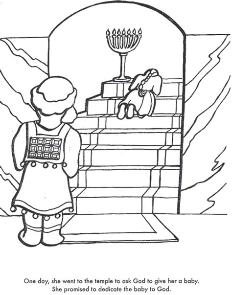 baby samuel coloring page week 3 hannah prays for a baby samuel hannah crying