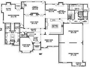 Six Bedroom Floor Plans Luxury Style House Plans 7700 Square Foot Home 2 Story