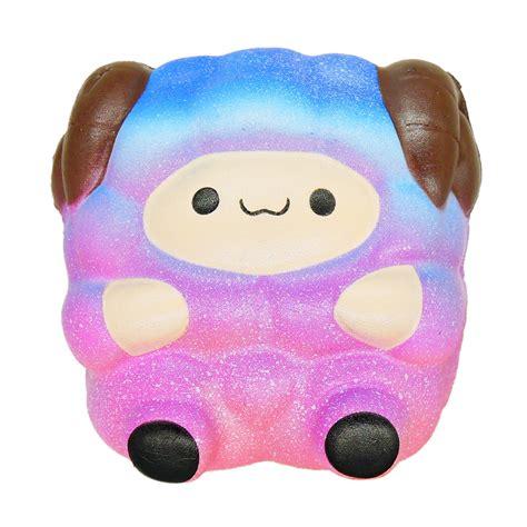 Rainbow Galaxy Moon Bun Squishy jumbo sheep squishy galaxy rainbow alpaca rising