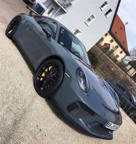 porsche graphite blue gt3 graphite blue 2018 porsche 911 gt3 spotted in the wild