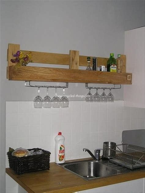 diy kitchen shelving ideas kitchen shelves made from wooden pallet recycled things
