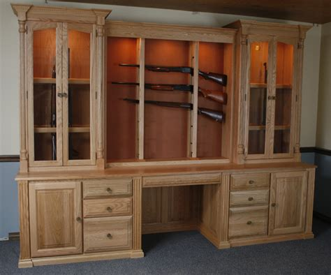 custom gun cabinets gunsafe amish custom gun cabinets