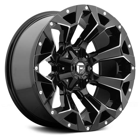 Wheels Fuel fuel 174 d576 assault 1pc wheels gloss black with milled accents rims