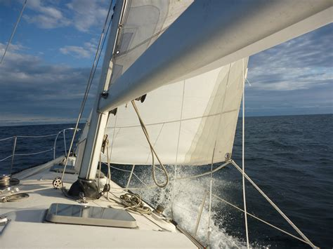 sailing from toronto to port credit in high winds and big - Sailing Boat In Big Waves