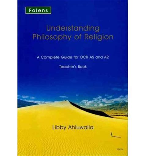 libro understanding philosophy for a2 understanding philosophy of religion ocr teacher s support book libby ahluwalia 9781850082774