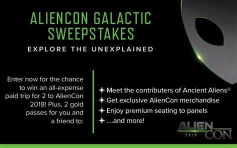 Aliencon Sweepstakes - aliencon galactic sweepstakes