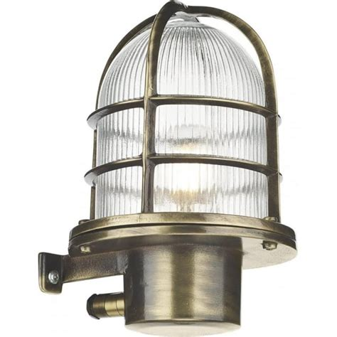 Nautical Style Outdoor Lighting Garden Wall Lantern In Solid Cast Brass With Antique Finish Nautical