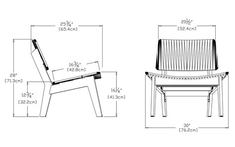 furniture dimensions length width height modern patio lounge chair made in u s a loll designs