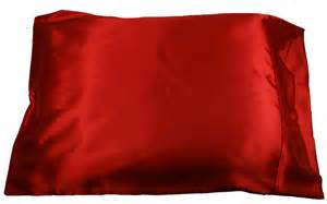 1pc new standard size silky satin pillow