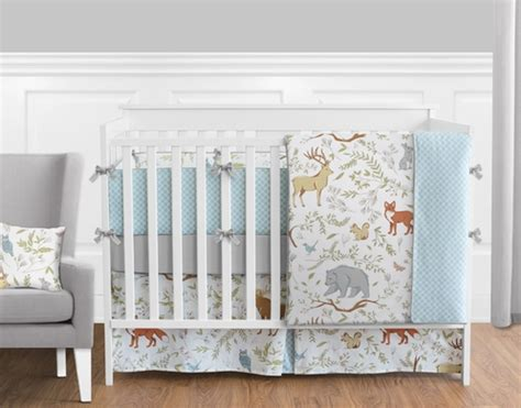Woodland Animal Crib Bedding by Woodland Animal Toile Baby Boy Or Bedding 9pc Crib Set By Sweet Jojo Designs Only 189 99