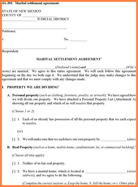 9 Divorce Settlement Agreement Template Marital Settlements Information Divorce Settlement Agreement Template