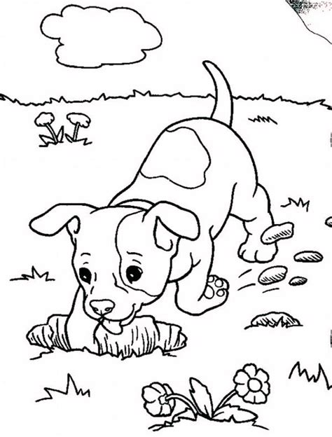 free a baby dog coloring pages