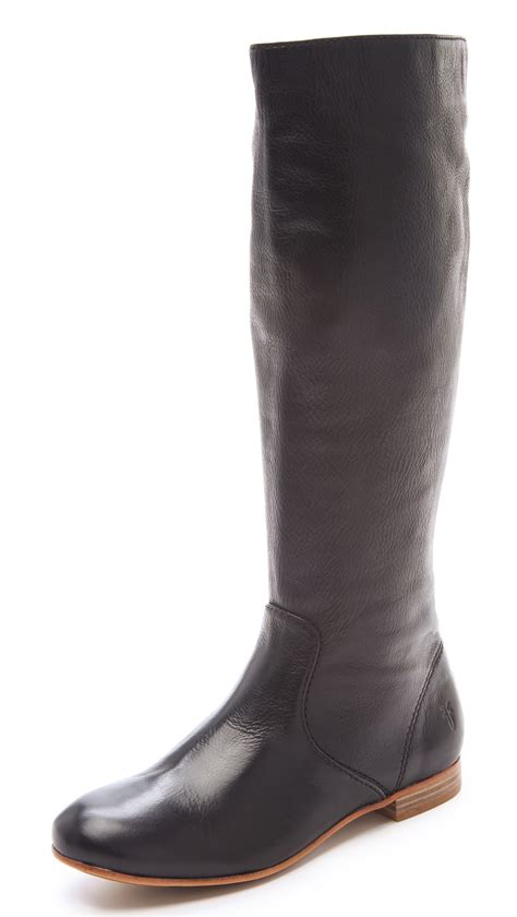 frye jillian pull on boots in black lyst