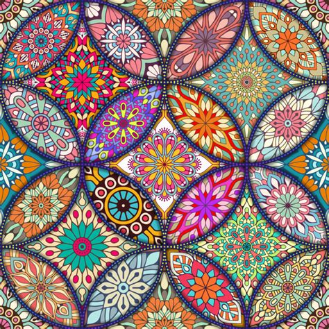 colorful mandala colorful background with different mandalas vector free