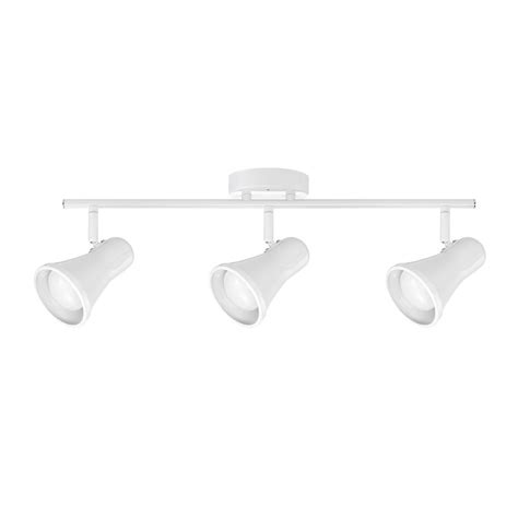 globe electric track lighting globe electric clara collection led 3 light white glossy