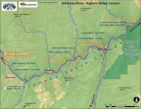 arkansas river map colorado arkansas river lower bighorn sheep colorado
