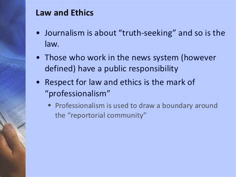 Journalism Ethics by Ethics In Journalism
