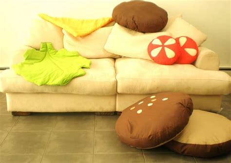 Hamburger Pillow and colourful hamburger scatter cushions freshome