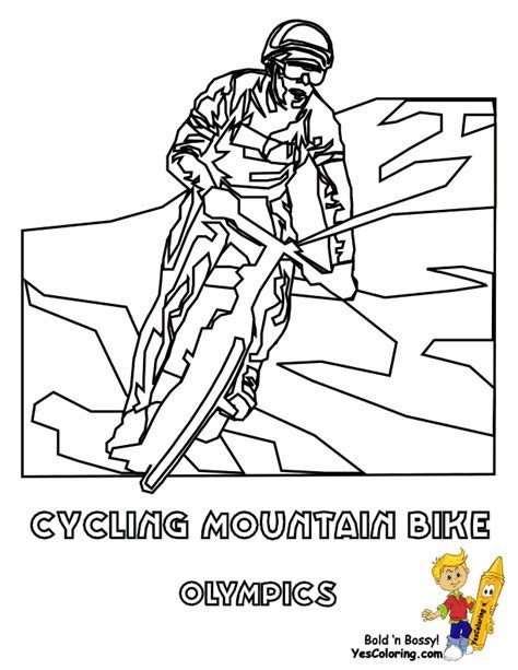 pics for mountain bike coloring pages