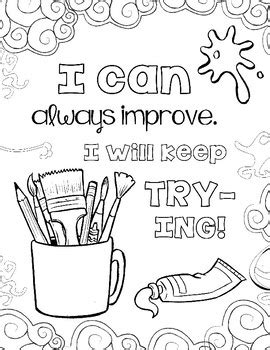 coloring pages for art class growth mindset coloring pages set 2 the art class