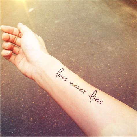 love never dies quote temporary tattoo inknart temporary