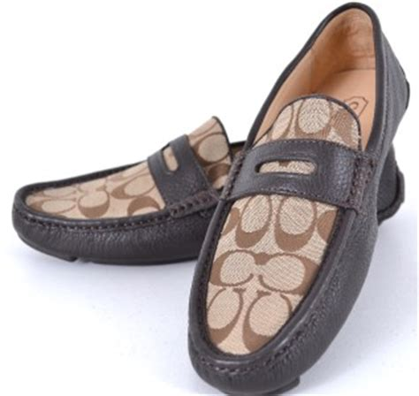 mens coach loafers new coach s q907 signature c khaki brown neal