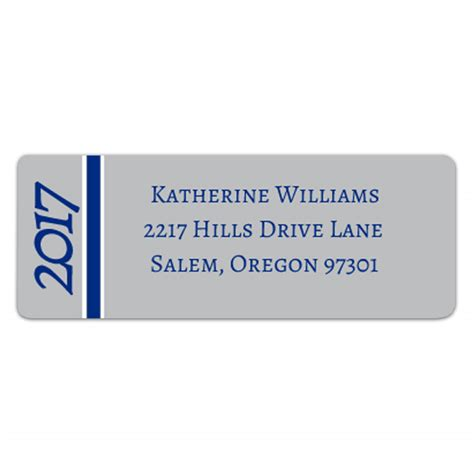 Graduation Silver Blue Return Address Labels Paperstyle | graduation silver blue return address labels paperstyle