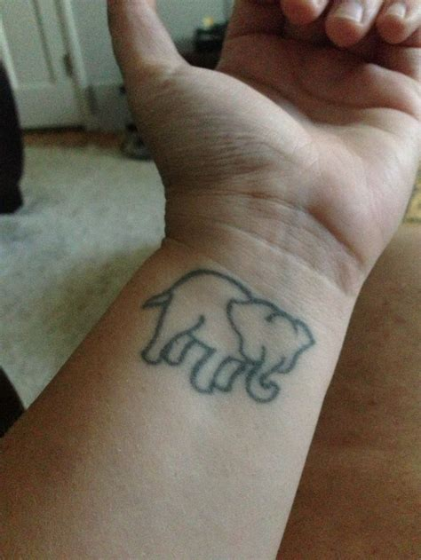 elephant tattoo designs wrist simple elephant wrist tattoo tat pinterest