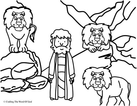 printable coloring pages daniel and the lions den daniel in the lions den coloring page 171 crafting the word