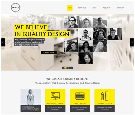 free online home page design 12 free modern psd website templates web graphic