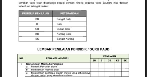 format buku raport smp kurikulum 2013 format penilaian kinerja guru tk paud oleh kepala sekolah