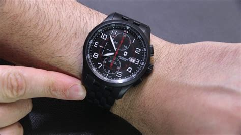 Victorinox Maverick Chronograph Black Edition 241786 victorinox swiss army airboss mechanical chronograph black edition review ablogtowatch