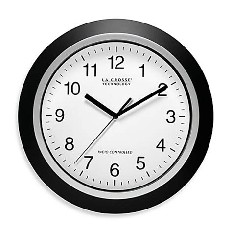 atomic bathroom clock la crosse technology 12 inch atomic wall clock with black