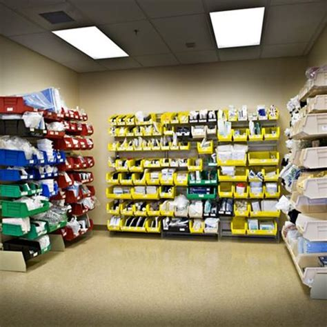 sterile supply storage in clean utility rooms at atrium