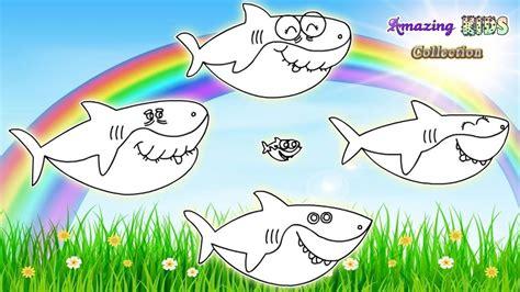 baby shark coloring pages 100 fish shark illustration coloring pages coloring