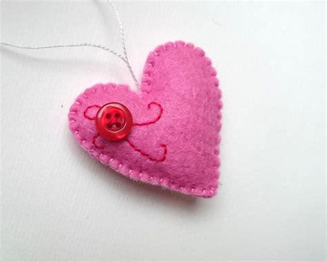 felt hearts ornament grab a coffee