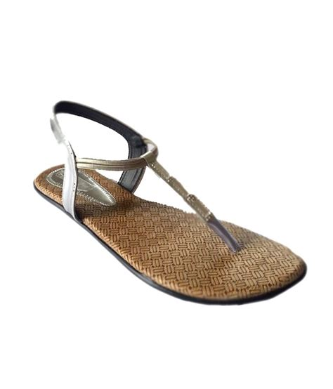 comfortable silver flats 1st avenue silver stylish and comfortable flat price in